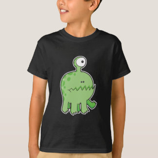 mon vert de monstre de cyclopes d'animal familier t-shirt