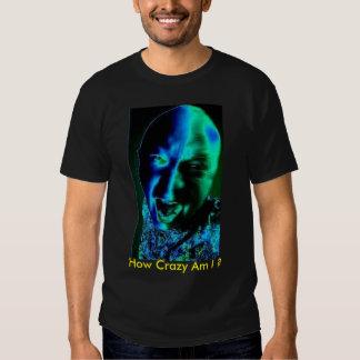 mon visage, combien fou suis moi ? t-shirts