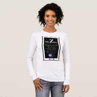 Mon zen, pensées de son zen de Moorish de Tao T-shirt À Manches Longues
