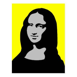 Mona colorée carte postale