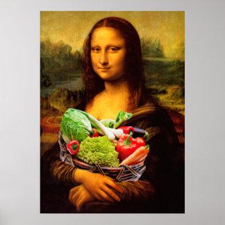 Mona Lisa aime des légumes Poster