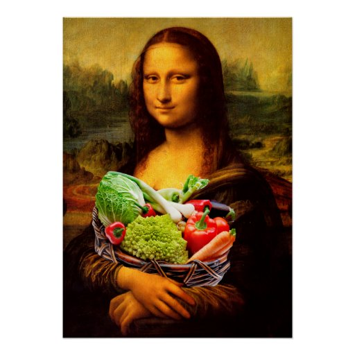 Mona Lisa aime des légumes