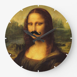 Mona Lisa avec la moustache Grande Horloge Ronde