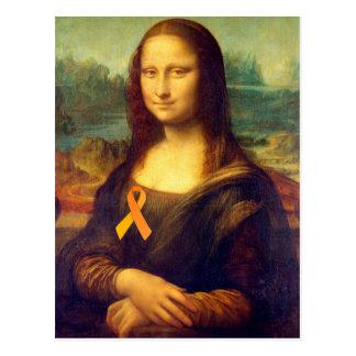Mona Lisa avec le ruban orange Carte Postale