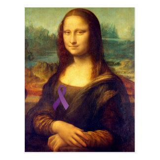 Mona Lisa avec le ruban pourpre Cartes Postales