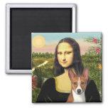 Mona Lisa - Basenji 1 Magnet Carré