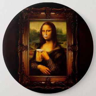Mona Lisa - bière de Mona Lisa - Lisa-bière drôle Badge