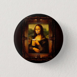 Mona Lisa - bière de Mona Lisa - Lisa-bière drôle Badges