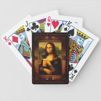 Mona Lisa - bière de Mona Lisa - Lisa-bière drôle Jeu De Cartes