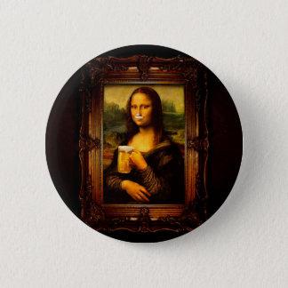 Mona Lisa - bière de Mona Lisa - Lisa-bière drôle Pin's