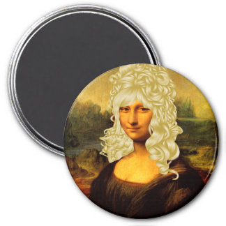 Mona Lisa blonde Magnet Rond 7,50 Cm