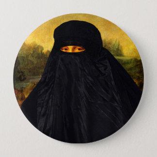 Mona Lisa cachée derrière Burqa Badges