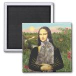 Mona Lisa - chat de forêt de Norweigan Magnet Carré