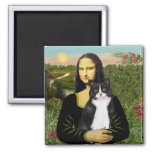 Mona Lisa - chat noir et blanc SH d'AM Magnets
