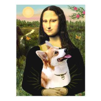 Mona Lisa - corgi 7b de Gallois de Pembroke Carte Postale