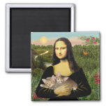 Mona Lisa - deux chatons tigrés Aimants