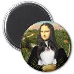 Mona Lisa - Japonaise Chin 3 Aimants Pour Réfrigérateur