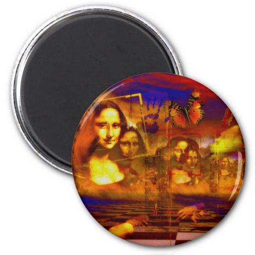 Mona Lisa Magnet Rond 8 Cm