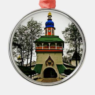 Monastère de Pechory Russie Ornement Rond Argenté