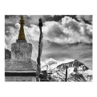 Monastère de Rongbuk et carte postale du mont