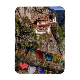 Monastère du nid du tigre, Bhutan Magnet Flexible