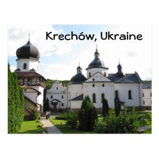 Monastère orthodoxe dans Krechow, carte postale de