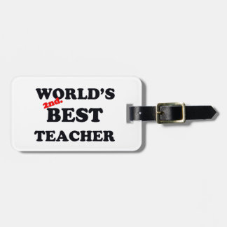 Monde 2ème. Le meilleur professeur Étiquette À Bagage