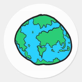 monde sticker rond