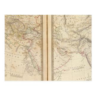 Monde comme connu des ancients carte postale