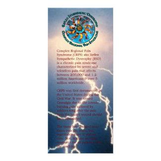 Monde de conscience de CRP RSD de carte de support Double Carte