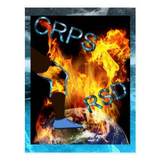 Monde de CRPS/RSD 'une carte postale de flambage