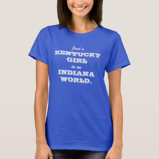 Monde de l'Indiana de fille du Kentucky T-shirt