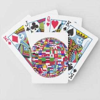 Monde des drapeaux jeu de cartes