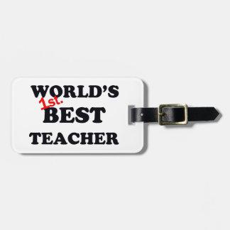 Monde ęr. Le meilleur professeur Étiquette À Bagage