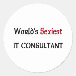 Monde le plus sexy il conseiller adhésif rond
