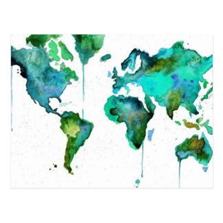 Monde pour aquarelle de la carte