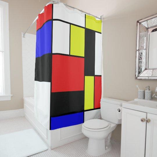 Mondrian #21-1 rideaux de douche
