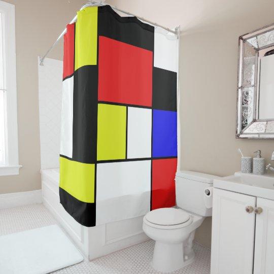 Mondrian #21-2 rideaux de douche