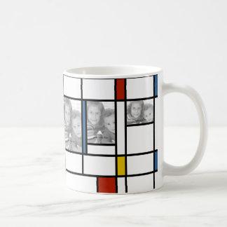 Mondrian a inspiré la tasse de modèle photo