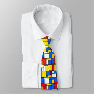 Mondrian a inspiré le motif jaune bleu rouge de cravates