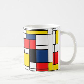 Mondrian boit ici ! mug blanc