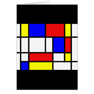 Mondrian - carte de couleurs primaires