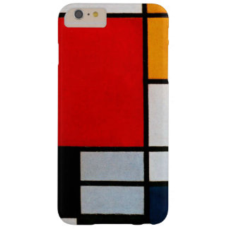 Mondrian - composition avec le grand avion rouge coque barely there iPhone 6 plus