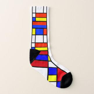 Mondrian - composition II - chaussettes d'art