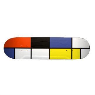 Mondrian - composition une planche à roulettes