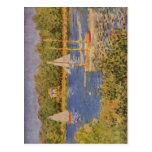 Monet, bei Argenteuil 1874 de Claude DAS Seinebeck Cartes Postales