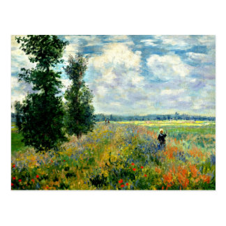 Monet - champ de pavot, Argenteuil Carte Postale