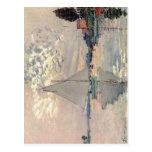 Monet, Claude Segelboot dans Le-Petit-Gennevillier Carte Postale