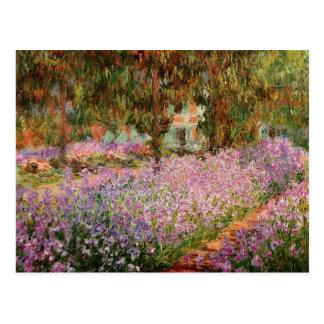 Monet - iris dans le jardin de Monet Carte Postale
