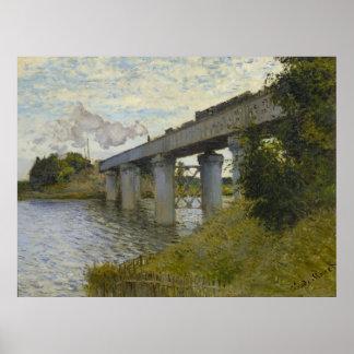 Monet, le pont en chemin de fer à Argenteuil Poster